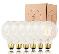 GMY 6PCS G95 Edison Bulb Vertical filament Vintage bulb 40W E26/E27 Decorate Bulb