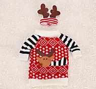 garrafa de vinho 1pc cobrir Decoração da tabela alces cervos roupas chapéu chifre ornamento do agregado familiar