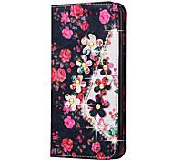 Per Custodia iPhone 6 / Custodia iPhone 6 Plus A portafoglio Custodia Integrale Custodia Fiore decorativo Resistente Similpelle Apple