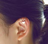 Women Alloy Golden Heart Clip Earrings