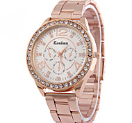 Ladies'/Women's Diamond Quartz Strip Quartz Watch Fake Three