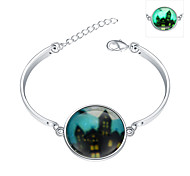 Lureme® New Magical Glow in The Dark 925 Sterling Silver Halloween Luminous Charm Bracelets