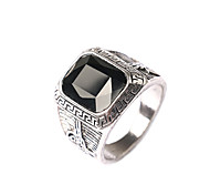 Man's Europe And The United States Men Black Is Noble gem ring Diamond Ring