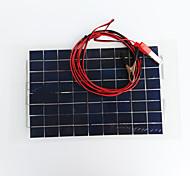 zdm® 10w 12v de saída 0.65a silício monocristalino painel solar (dc12-18v)