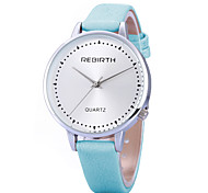 REBIRTH® Women's Simple Fashion Watch Large Dail PU Leather Strap Quartz Wrist Watch Casual Watch