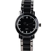 Fashion Classic Black Quartz Watch Girls Hand Leisure Alloy