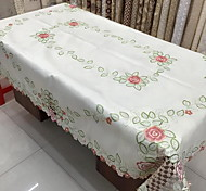 Ou Embroidery Satin Embroidered Rural Table Cloth (100*150cm)