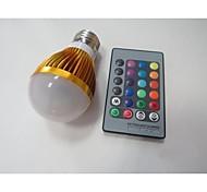 3W E26/E27 Smart LED Glühlampen A60(A19) 1 Hochleistungs - LED 100-230 lm RGB Sensor AC 85-265 V 1 Stück