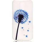 Purple Dandelion Pattern Relief Glow in the Dark TPU Phone Case for Motorola Moto G4 Play / G 4
