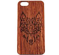iphone 7 mais caso do iphone de madeira Timberwolves floresta lobo totem difícil tampa traseira para o iphone 5 / 5s / SE