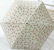 Blanc / Rose Ombrelle pliable Ensoleillé et Rainy Caoutchouc Lady / Hommes