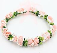 красивая роза цветок венки оголовье для леди свадьба партии ювелирные изделия праздник волос