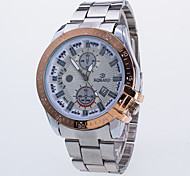 Men's Fashion Watch / Swiss Designer Quartz Alloy Band Casual Rose Gold