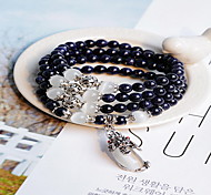 Women Alloy Silver Drops of Water Strand Bracelets