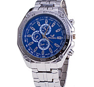 Men's Fashion Watch Wrist watch Quartz / Stainless Steel Band Cool Casual Silver Brand