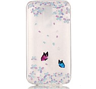 Butterfly 3D Relief Feeling Super Soft Pack Transparent TPU Phone Case for LG K7/K8/K10