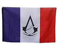 Mehre Accessoires Inspiriert von Assassin's Creed Connor Anime/ Videospiel Cosplay Accessoires Fahne Weiß Wollen Mann