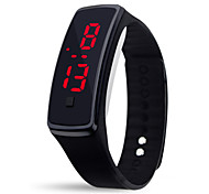 Silicone Material, LED Bracelet Watch
