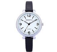 REBIRTH Women's Simple Fashion Slim PU Leather Strap Quartz Wrist Watch