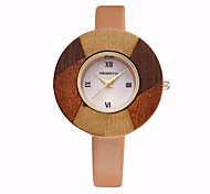 REBIRTH Women's Simple Fashion Dial PU Leather Strap Quartz Wrist Watch