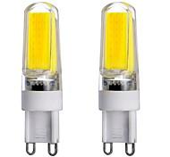 2PCS G9 1LED COB 4.5W 300-450LM Warm White/White/Natural White Dimmable / Decorative LED Bi-pin Lights