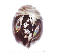 1pc Win Dark Queen Game Pattern Body Arm Art Temporary Tattoo Sticker for Sexy Women Men Decoration HB-424