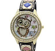 Women's Fashion Watch / Wrist watch Quartz / PU Band Cool / Casual / Owl Black / White / Blue / Red / Brown / Pink / Rose Brand