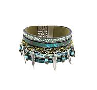 Bracelet Charmes pour Bracelets / Bracelets Wrap / Bracelets en cuir Cristal / Alliage / Cuir / Acrylique / Strass Formé CarréeBohemia