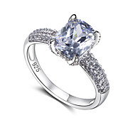 New Jewelry 925 Sterling Silver Wedding Ring For Women Cubic Zirconia Engagement Band Fashion Jewelery