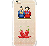 Couple and Pepper Pattern Shockproof/Dust Tight/Transparent Soft TPU Back Case For i6s Plus/6 Plus/6s/6/SE/5S/5