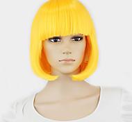 neitsi halloween moda capelli sintetici rettilinei brevi parrucche a buon mercato del merletto parrucca Bob stile multi colore per cosplay