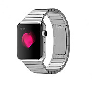 Negro / Rose / Dorado / Plata Acero Inoxidable 竹节款 不锈钢链式 Hebilla Moderna Para Apple Reloj 38mm / 42mm