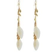 Feather Pendant Fashion Drop Earrings
