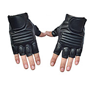 Outdoor Sports Summer Breathable Leather Army Tactical Motorcycle Riding Semi Finger Gloves