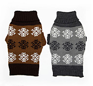 Dog Sweater Gray / Coffee Winter Geometic Keep Warm, Dog Clothes / Dog Clothing