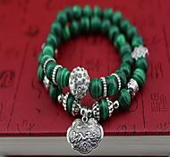 Women Alloy Silver Safe Lock Strand Bracelets