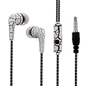 USURE LW02 Crack In-Ear Earbuds Earphones  Stereo Sound  with Mic for MP3 / MP4 / Smartphone