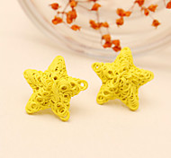 Earring Star,Jewelry 1 pair Fashionable Alloy Yellow / Blue / Green / Purple Daily / Casual