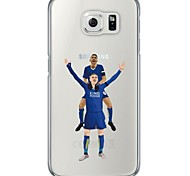 Football Stars Pattern Soft Ultra-thin TPU Back Cover For Samsung GalaxyS7 edge/S7/S6 edge/S6 edge plus/S6/S5/S4