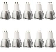 5W GU10 Focos LED MR16 1 COB 480LM lm Blanco Cálido / Blanco Fresco Regulable / Decorativa AC 100-240 / AC 110-130 V 10 piezas