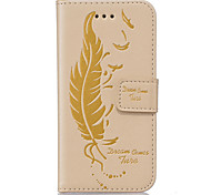 PU Leather Material Feather-Sided Embossed Pattern Mobile Phone Cases for Samsung Galaxy A510/A310
