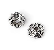 28pcs beadia plata antigua granos de la aleación del casquillo de 10x3mm forma de la flor granos del espaciador