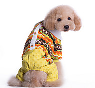 Perros Azul / Amarillo Ropa para Perro Invierno Flores / Botánica Mantiene abrigado