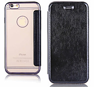 Electroplating Environmental TPU Material PU Leather Combo Flip Leather Case for iPhone 6 6S  6 Plus 6S Plus