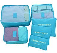 Travel Travel Bag / Packing Cubes / Luggage Organizer / Packing Organizer Travel Storage Waterproof / Durable / Foldable Fabric