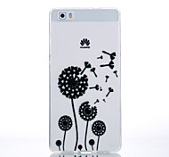 TPU Material Black Dandelion Pattern Cellphone Case for Huawei P9Lite/P9/P8Lite