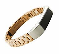 Черный / Золотистый / Серебристый Нержавеющая сталь / Металл Спортивный ремешок / Современная застежка Для Fitbit Смотреть 10mm