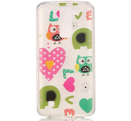 TPU + IMD Material Owl Love Pattern Painted Relief Phone Case for LG K10/K8/K7/K4