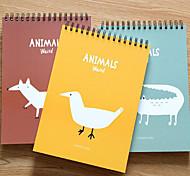 Cute Cartoon Animals Painted Coil Sketchbook