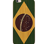 Cartoon Brazil Flag PC Hard Case Cover For Apple iPhone 6s Plus/6 Plus/iPhone 6s/6/iPhone SE/5s/5